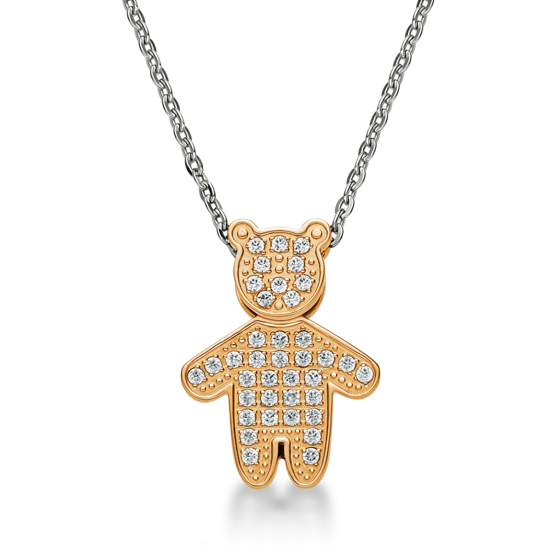 Crystal Ip Rose Gold Bear Necklace
