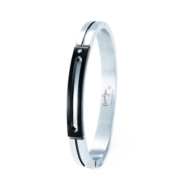 Diamond Bangle in Black Frame
