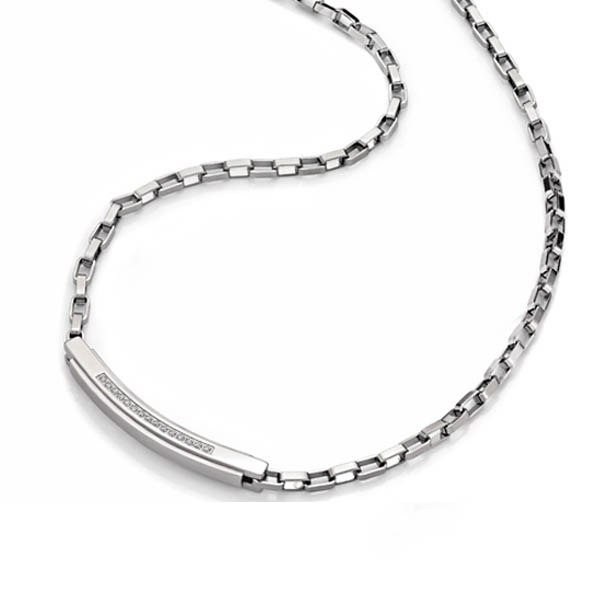Health Germanium Steel Necklace with Crystal