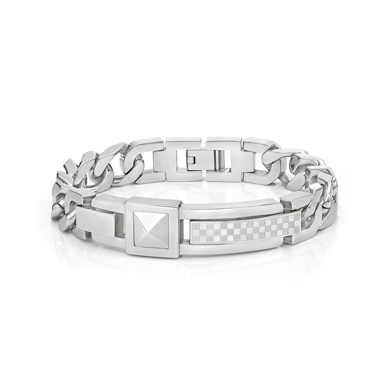 Steel Rivet Bracelet with square pattern