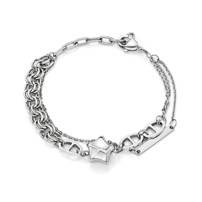 Share Of Love Lucky Star Steel Bracelet