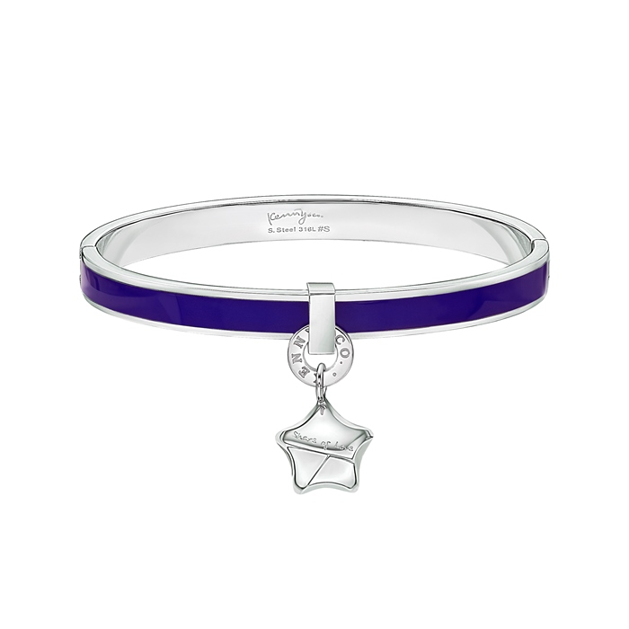 Share of Love Lucky Star Purple Enamel Bangle