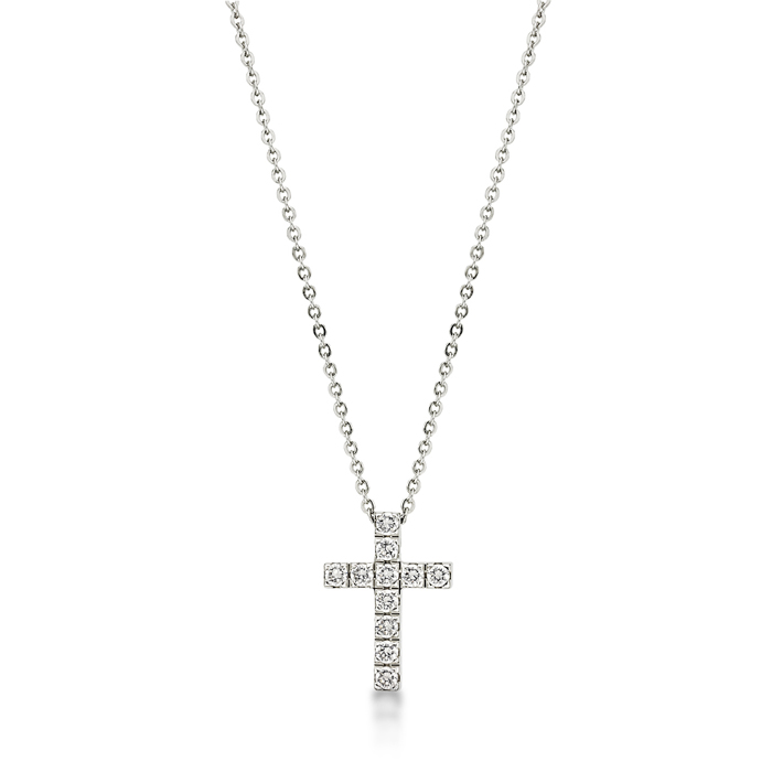 Full Crystal Cross Pendant With Necklace