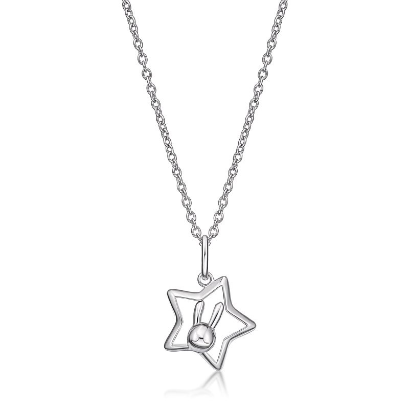 Rabbit C. Star Pendant (in RH. Plated)