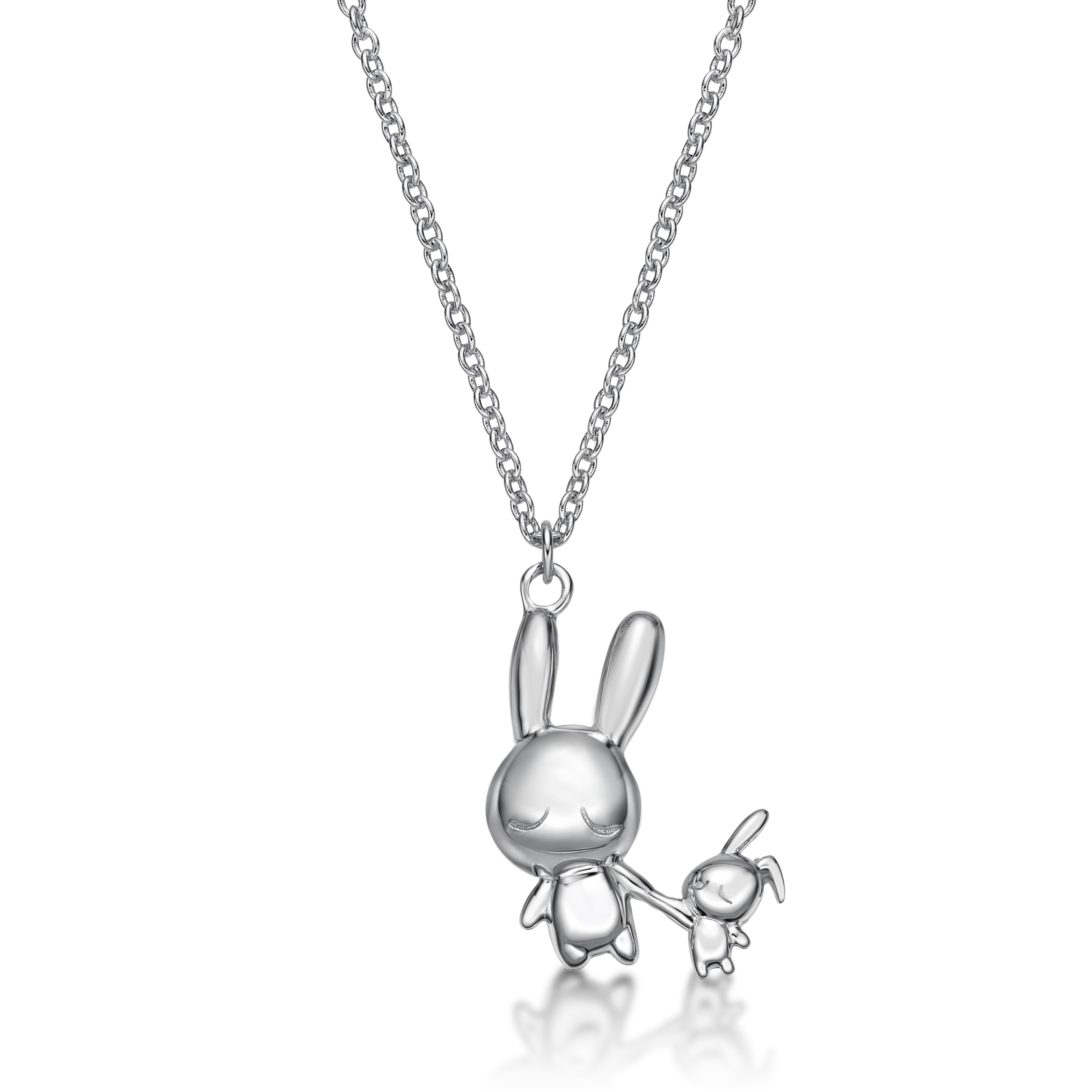 Rabbit C Icon & Doll Pendant With Necklace