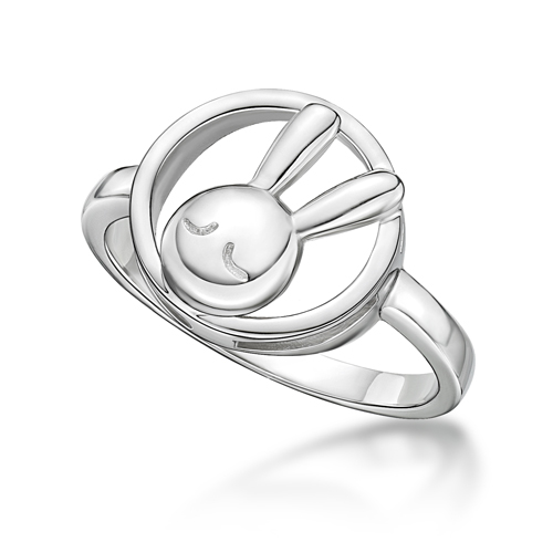 Rabbit C. Outline Ring in RH. plated