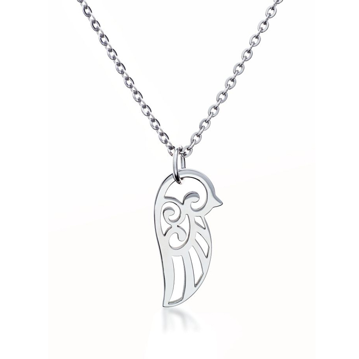 Steel Hollow Lovebird Necklace