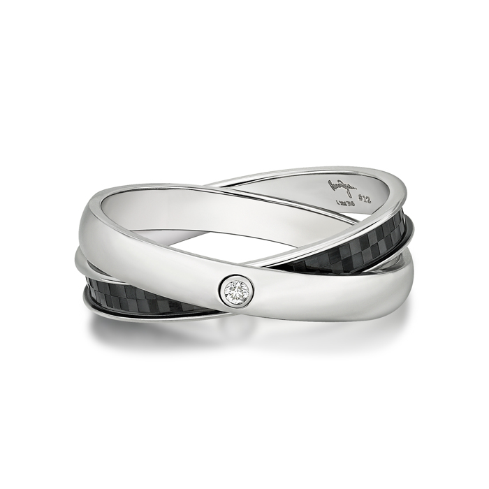 Double Steel Diamond Ring